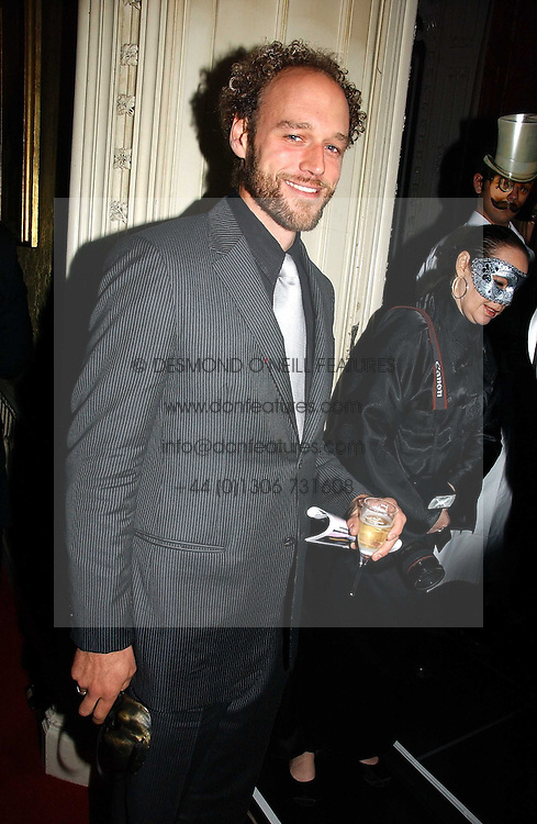 Actor ELLIOT COWAN at the 2006 Moet & Chandon Fashion Tribute in honour of photographer Nick Knight, held at Strawberry Hill House, Twickenham, Middlesex on 24th October 2006.<br /><br />NON EXCLUSIVE - WORLD RIGHTS
