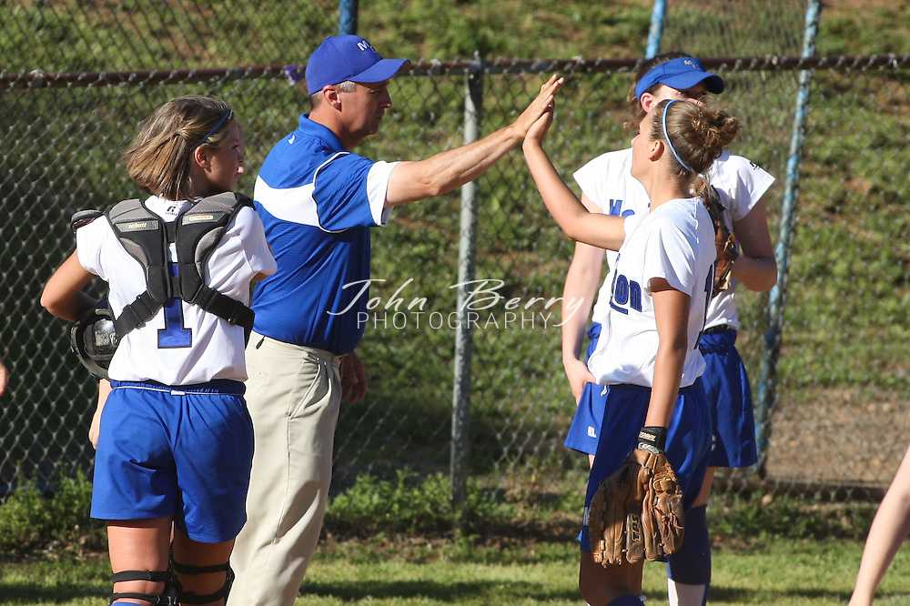MCHS Varsity Softball .vs Strasburg Rams .District Semi-Finals .Madison defeated Strasburg 8-1 to advance to the District Finals and also earned a berth in the Region B Tournament..5/20/2009