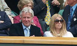 LONDON, ENGLAND - Sunday, July 4th, 2010: Former Wimbledon Champion Bjorn Borg and his wife Patricia during the Gentlemen's Singles Final match on day thirteen of the Wimbledon Lawn Tennis Championships at the All England Lawn Tennis and Croquet Club. (Pic by David Rawcliffe/Propaganda)