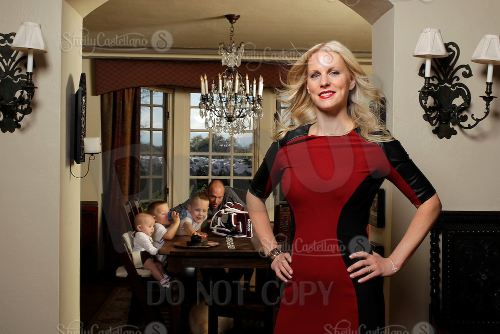 26 October 2012:  Kristen and JS Giguere at their home in Denver, Colorado.  NHL Housewives story.