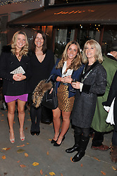 Left to right, Charlotte Christopherson, Bridget Rodericks, Ellen Spry and Charly Spry at a party to celebrate the publication of Seductive Interiors by Sara Hersham Loftus at Julie's, 135 Portland Road, London W11 on 15th November 2012.