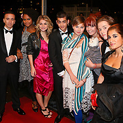 NLD/Amsterdam/20081024 - Uitreiking Televizier gala 2008, Spangas cast, Gaby Blaaser, Marius Gottlieb, Sebastiaan Wulff,