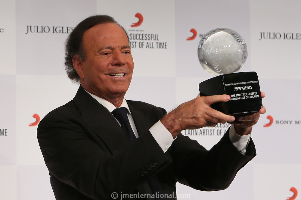 "Julio Iglesias ""The Most Successful Latin Artist Of All Time Award""<br /> Presented at the Dorchester Hotel.<br /> Monday,  May 12th, 2014 (Photo/John Marshall JM Enternational)"