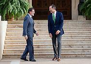 Palma de Mallorca, 07-08-2015<br /> <br /> <br /> King Felipe meets Prime Minister Rajoy.<br /> Royalportraits Europe/Bernard Ruebsamen