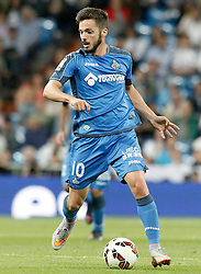 23.05.2015, Estadio Santiago Bernabeu, Madrid, ESP, Primera Division, Real Madrid vs FC Getafe, 38. Runde, im Bild Getafe's Pablo Sarabia // during the Spanish Primera Division 38th round match between Real Madrid CF and Getafe FCat the Estadio Santiago Bernabeu in Madrid, Spain on 2015/05/23. EXPA Pictures &copy; 2015, PhotoCredit: EXPA/ Alterphotos/ Acero<br /> <br /> *****ATTENTION - OUT of ESP, SUI*****