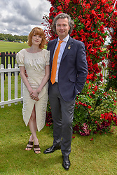 Emily Beecham and Laurent Feniou at the Cartier Queen's Cup Polo 2019 held at Guards Polo Club, Windsor, Berkshire. UK 16 June 2019 - <br /> <br /> Photo by Dominic O'Neill/Desmond O'Neill Features Ltd.  +44(0)7092 235465  www.donfeatures.com