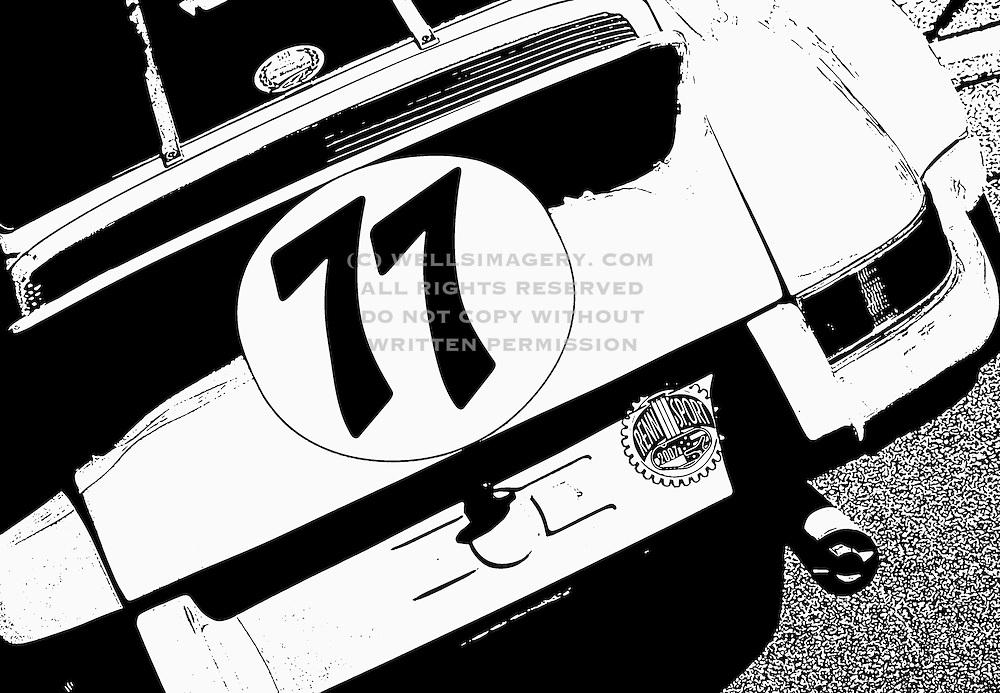 Image of a race car at the Rennsport Reunion III at Daytona International Speedway, Daytona, Florida, American Southeast, Porsche 911-ST, Photo Illustration