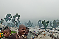 Kivu, Democratic Republic of Congo. Civilians caught in conflct.