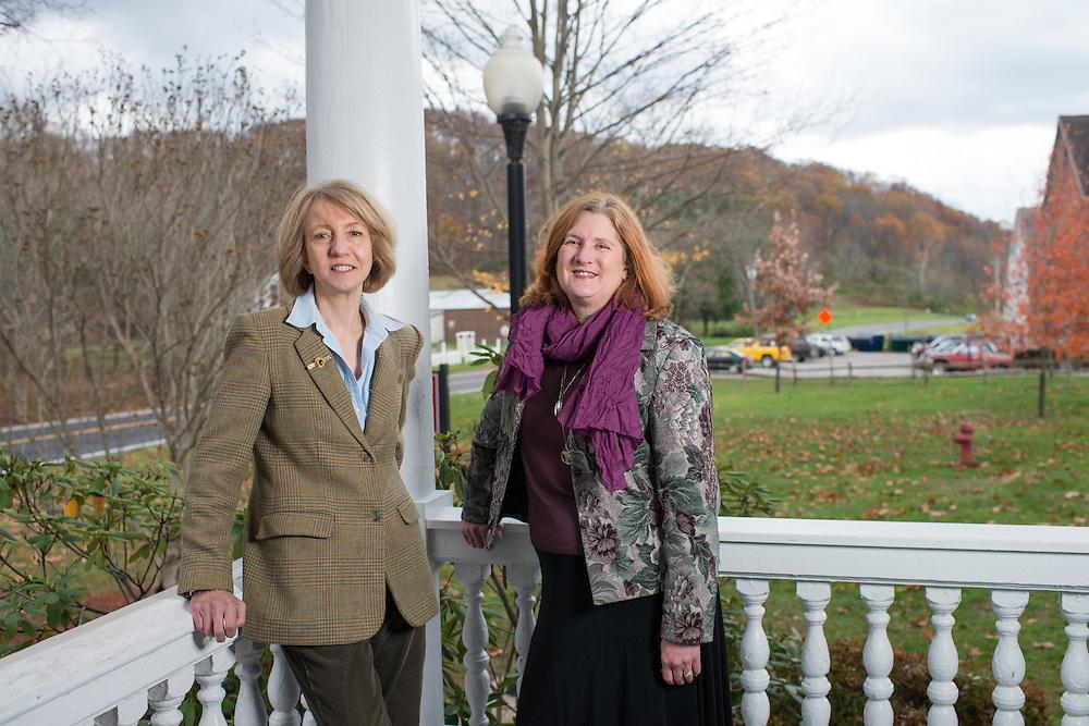 Ohio University Assistant Professors Solveig Spjeldnes (left) Lesli Johnson work together reduce rural recidivism. Photo by Ben Siegel