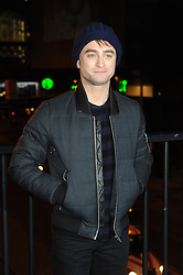 Daniel Radcliffe attends the Kill Your Darlings Cut Up Art Exhibition at Waterloo Station, London. Thursday, 21st November 2013. Picture by Chris Joseph / i-Images