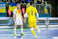 Pola of Spain during futsal match between Ukraine and Spain in Quaterfinals of UEFA Futsal EURO 2018, on February 6, 2018 in Arena Stozice, Ljubljana, Slovenia. Photo by Ziga Zupan / Sportida
