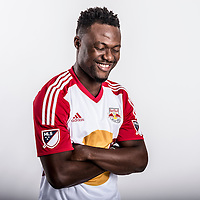 Gideon Baah is introduced as a New York Redbull at the Redbull Training Facility in Whippany, NJ on Tuesday, February 9, 2016.<br /> (Ben Solomon/NYRB)