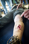 Hostile Environments and Emeregency First Aid Training course for journalists deploying to war zones in Strausburg, VA.