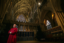 © Licensed to London News Pictures. 17/12/2019. London, UK. Stephen Cottrell is unveiled as the new 98th Archbishop of York at York Minster, Britain on 17th December 2019. Photo credit: Nigel Roddis/LNP