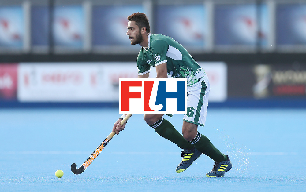 LONDON, ENGLAND - JUNE 16:  Ammad Shakeel of Pakistan during the Hero Hockey World League semi final match between Pakistan and Canada at Lee Valley Hockey and Tennis Centre on June 16, 2017 in London, England.  (Photo by Alex Morton/Getty Images)