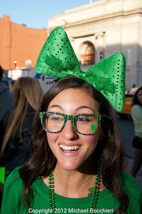HOBOKEN, NJ - MARCH 03:  People attend the Lepre-Con event as part of St. Patrick's Day festivities March 03, 2012 in Hoboken, New Jersey. Following the city's cancelation of the annual St. Patrick's Day Parade organizers held a city-wide drinking event that attracted thousands to the area.  (Photo by Michael Bocchieri/Bocchieri Archive)