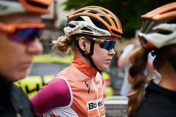 Anna van der Breggen (NED) waits to sign on at Emakumeen Bira 2018 - Stage 3, a 114.5 km road race starting and finishing in Aretxabaleta, Spain on May 21, 2018. Photo by Sean Robinson/Velofocus.com