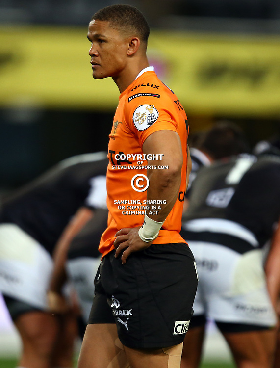 DURBAN, SOUTH AFRICA - SEPTEMBER 10: Rayno Benjamin of the Toyota Free State Cheetahs during the Currie Cup match between the Cell C Sharks and Toyota Cheetahs at Growthpoint Kings Park on September 10, 2016 in Durban, South Africa. (Photo by Steve Haag/Gallo Images)