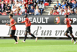 September 30, 2018 - Rennes, France - 11 MBAYE NIANG (REN) - 08 CLEMENT GRENIER (REN) - JOIE (Credit Image: © Panoramic via ZUMA Press)