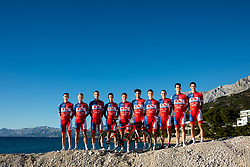 Team photo during official photo session of Continental Team - Adria Mobil Cycling before new season 2020, on January 30, 2020 in Makarska, Croatia. Photo by Vid Ponikvar / Sportida