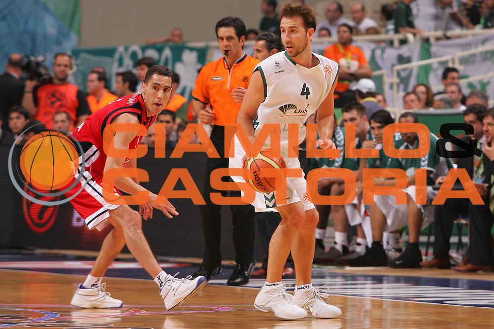DESCRIZIONE : Atene Athens Eurolega Euroleague 2006-07 Final Four Finale 3-4 posto Unicaja Malaga Tau Vitoria <br /> GIOCATORE : Sanchez <br /> SQUADRA : Unicaja Malaga <br /> EVENTO : Eurolega 2006-2007 Final Four Finale 3-4 posto <br /> GARA : Unicaja Malaga Tau Vitoria <br /> DATA : 06/05/2007 <br /> CATEGORIA : Palleggio <br /> SPORT : Pallacanestro <br /> AUTORE : Agenzia Ciamillo-Castoria/S.Silvestri