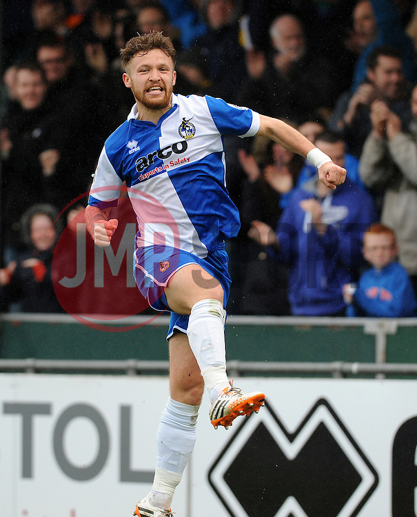 Bristol Rovers' Matty Taylor celebrates making it 1-0 - Photo mandatory by-line: Neil Brookman/JMP - Mobile: 07966 386802 - 03/04/2015 - SPORT - Football - Bristol - Memorial Stadium - Bristol Rovers v Chester - Vanarama Football Conference