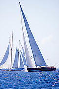Lady B sailing during the St. Barth's Bucket 2011 race 1.