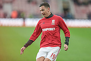 Stewart Downing (Middlesbrough) before the Premier League match between Middlesbrough and Watford at the Riverside Stadium, Middlesbrough, England on 16 October 2016. Photo by Mark P Doherty.