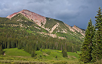 12,625 ft. Avery Peak of the Elk Mountains as seen from Gothic Road,  Colorado.