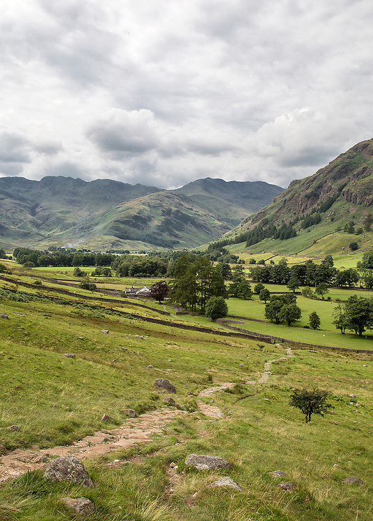 A view of the Langdale Valley in the English Lake District