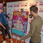 NLD/Netherlands/20190506 - 100%NL Magazine viert 10 Jarig jubileum, onthulling jubileumnummer door Nick en Simon
