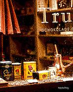 Shop window chocolate Zürich old city