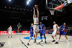 13.09.2014, City Arena, Madrid, ESP, FIBA WM, Frankreich und Litauen, Entscheidungsspiel zwischen Platz 3 und 4, im Bild France´s Pietrus and Fournier and Lithuania´s Jankunas and Valanciunas // during FIBA Basketball World Cup Spain 2014 playoff match place 3 and 4 between France and Lithuania at the City Arena in Madrid, Spain on 2014/09/13. EXPA Pictures © 2014, PhotoCredit: EXPA/ Alterphotos/ Victor Blanco<br /> <br /> *****ATTENTION - OUT of ESP, SUI*****