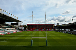 A general view of Welford Road Stadium, home of Leicester Tigers - Mandatory by-line: Robbie Stephenson/JMP - 23/09/2018 - RUGBY - Welford Road Stadium - Leicester, England - Leicester Tigers v Worcester Warriors - Gallagher Premiership