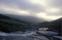 First light makes its way over Goat Fell, Arran Island, Scotland.