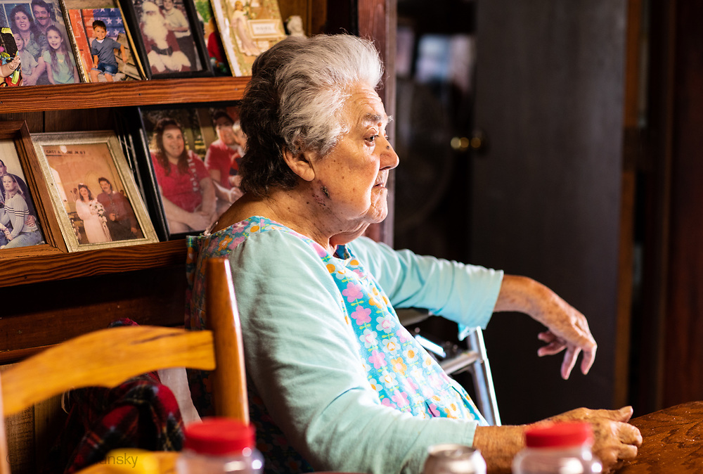 Denecia Naquin Billiot in her home on the Isle de Jean Charles in Louisiana.