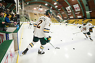 The Hockey East quarter final men's hockey game between the Maine Black Bears and the Vermont Catamounts at Gutterson Field House on Friday night March 6, 2015 in Burlington, Vermont.
