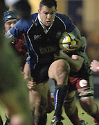 2005/06 Powergen Cup, Bath Rugby vs Gloucester Rugby, Frikkie Welsh, set up a charging run through the Gloucester defence as Bath run out winners against Gloucester at the Rec,  on the 03.12.2005.   © Peter Spurrier/Intersport Images - email images@intersport-images..