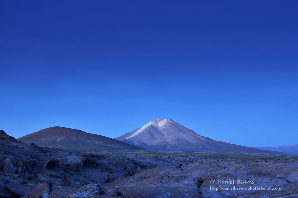 Before sunrise on the altiplano of Southern Bolivia