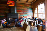Storyville Coffehouse above Pike Place Market in Seattle, WA provides a quiet respite from the crowds below.