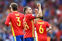 Jordi Alba Spain celebrates <br /> Toulouse 13-06-2016 Stade de Toulouse Footballl Euro2016 Spain - Czech Republic  / Spagna - Repubblica Ceca Group Stage Group D. Foto Matteo Ciambelli / Insidefoto