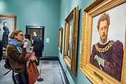 Aleksander Lensky as Petruchio by Ivam Kramskoi, 1883  -  Russia and the Arts: The Age of Tolstoy and Tchaikovsky - Part of a cultural exchange with the State Tretyakov Gallery in Moscow, a new exhibition marking the 160th anniversary of both galleries. Works include key figures from the 'golden age of the arts' in Russia, 1867-1914. Runs until June 26. Private view March 14. National Portrait Gallery, St Martin's Place, London.