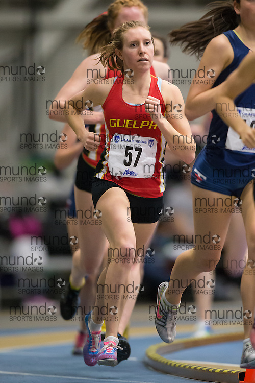 Robyn Mildren of the University of Guelph  competes at the 2014 CanAm Track and Field meet in Windsor Ontario, Saturday,  January 11, 2014.<br /> Mundo Sport Images/ Geoff Robins