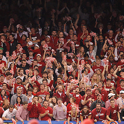 January 4, 2011; New Orleans, LA, USA;  Arkansas Razorbacks fans cheer during the third quarter of the 2011 Sugar Bowl against the Ohio State Buckeyes at the Louisiana Superdome.  Mandatory Credit: Derick E. Hingle