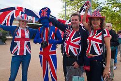 Queen Elizabeth Olympic Park, London, September 10th 2014. The McCarron Family show their colours ahead of the opening ceremony for the Invictus Games, where over 400 competitors from 13 nations will take part in an international sporting event for wounded, injured and sick Servicemen and women.