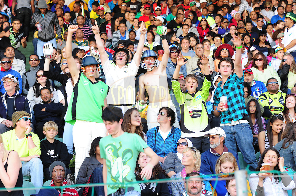 Crowds celebratios during match 2 of the Airtel CLT20 between The Warriors and The Wayamba Elevens held at St Georges Park in Port Elizabeth on the 11 September 2010..Photo by:Iky/SPORTZPICS/CLT20