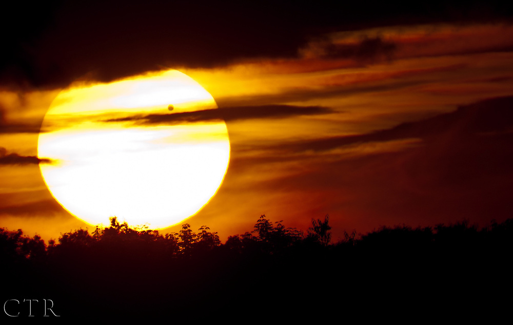 The planet Venus transits the sun June 5, 2012. Venus transited the sun as recently as 2004 but will not do so again for over 100 years.