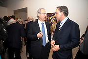 Harvey McGrath; Peter Goerke, Indonesian Eye Contemporary Art Exhibition Reception, Saatchi Gallery. London. 9 September 2011. <br /> <br />  , -DO NOT ARCHIVE-© Copyright Photograph by Dafydd Jones. 248 Clapham Rd. London SW9 0PZ. Tel 0207 820 0771. www.dafjones.com.