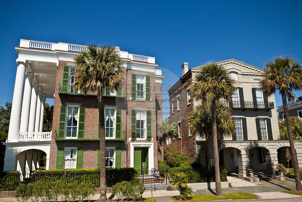 Historic homes along the Battery in Charleston, SC.