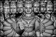 At a Hindu temple at Munneswaram. A collection of Hindu Gods.